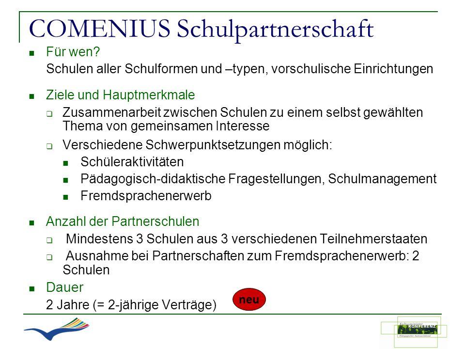 COMENIUS Schulpartnerschaft