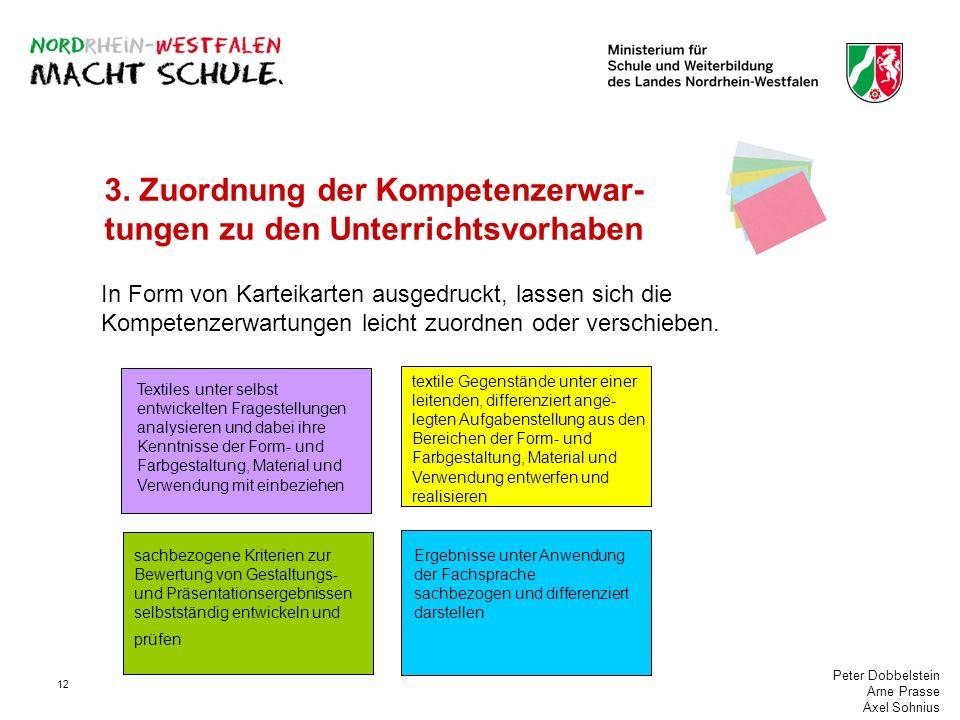3. Zuordnung der Kompetenzerwar-tungen zu den Unterrichtsvorhaben