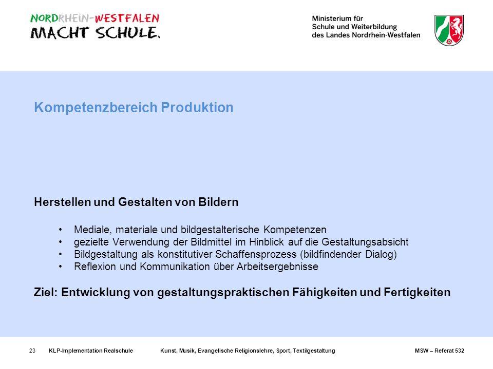 Kompetenzbereich Produktion