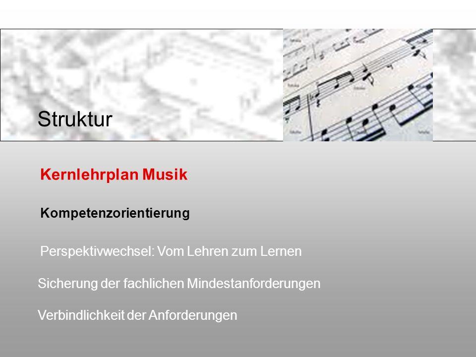 Struktur Kernlehrplan Musik Kompetenzorientierung