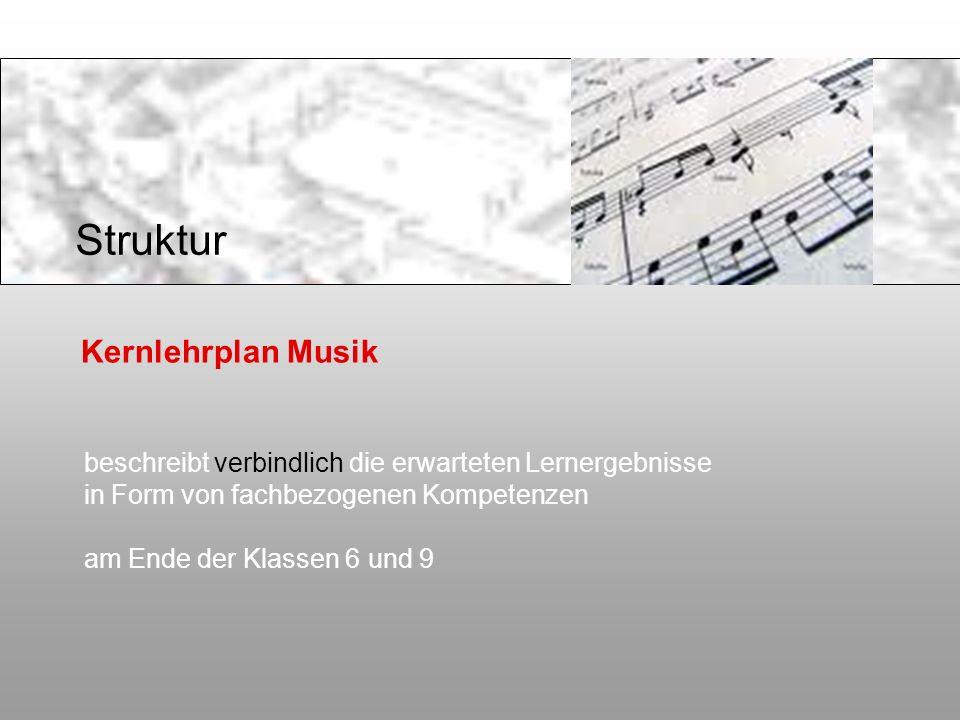 Struktur Kernlehrplan Musik