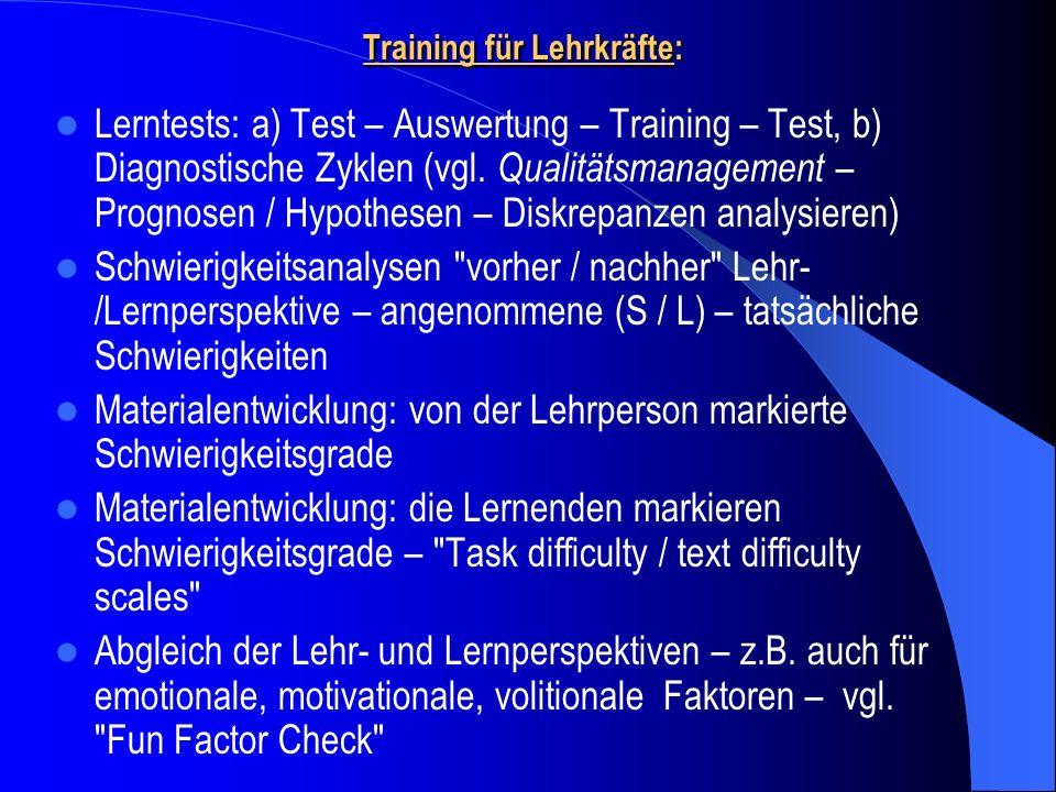 Training für Lehrkräfte: