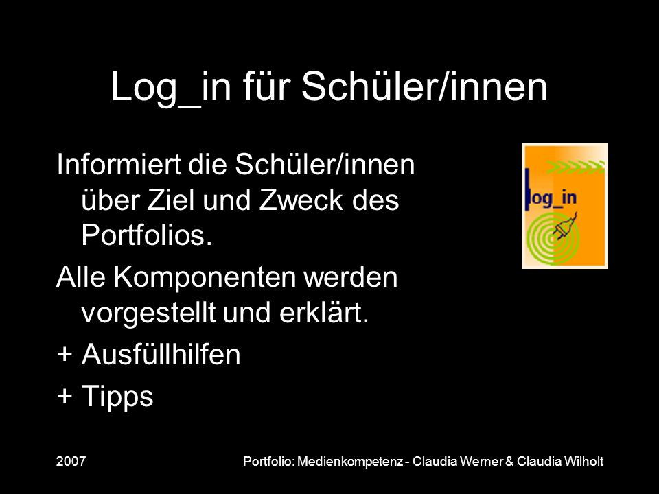 Log_in für Schüler/innen