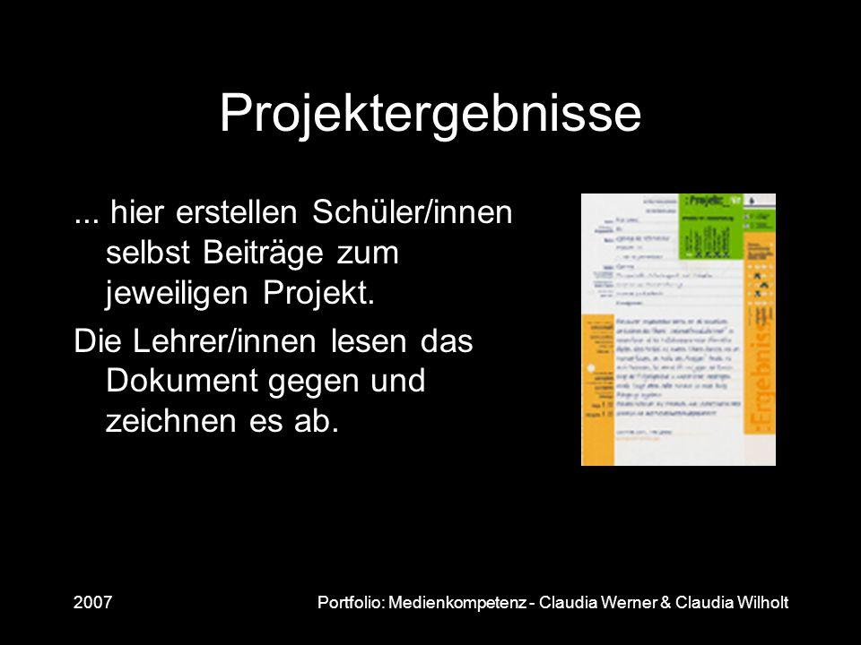 Projektergebnisse ... hier erstellen Schüler/innen selbst Beiträge zum jeweiligen Projekt.