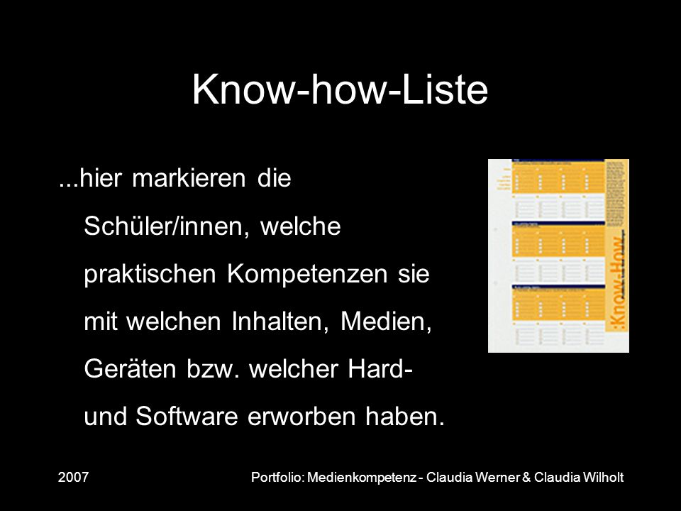 Know-how-Liste