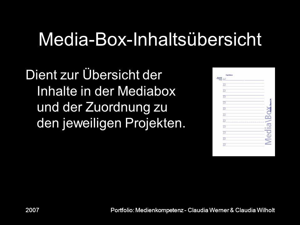 Media-Box-Inhaltsübersicht