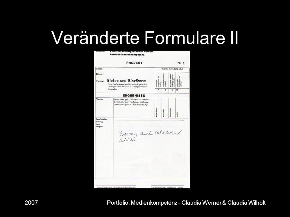 Veränderte Formulare II