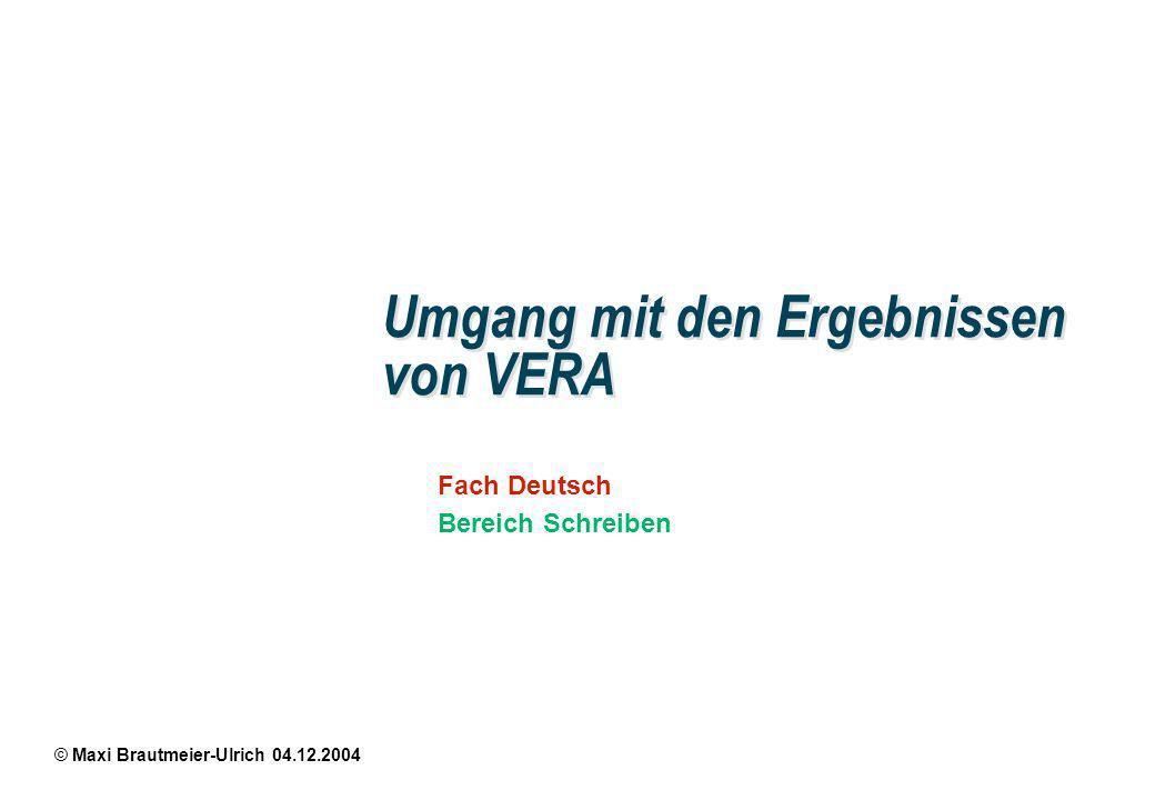 Fach Deutsch Bereich Schreiben