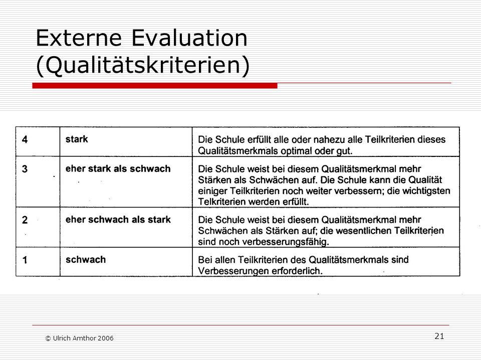 Externe Evaluation (Qualitätskriterien)