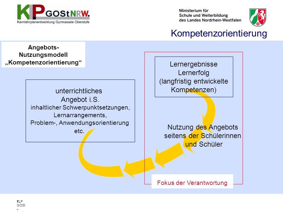 """Angebots- Nutzungsmodell """"Kompetenzorientierung"""