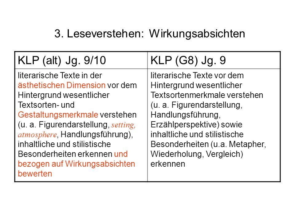 3. Leseverstehen: Wirkungsabsichten