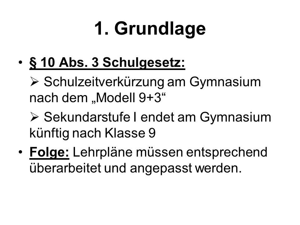 1. Grundlage § 10 Abs. 3 Schulgesetz:
