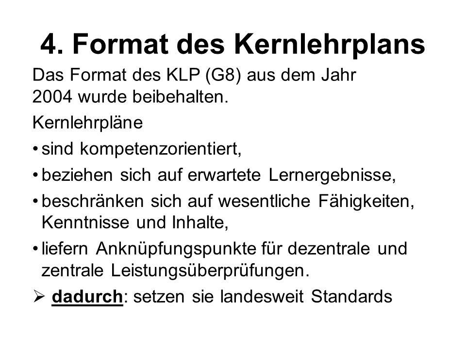 4. Format des Kernlehrplans