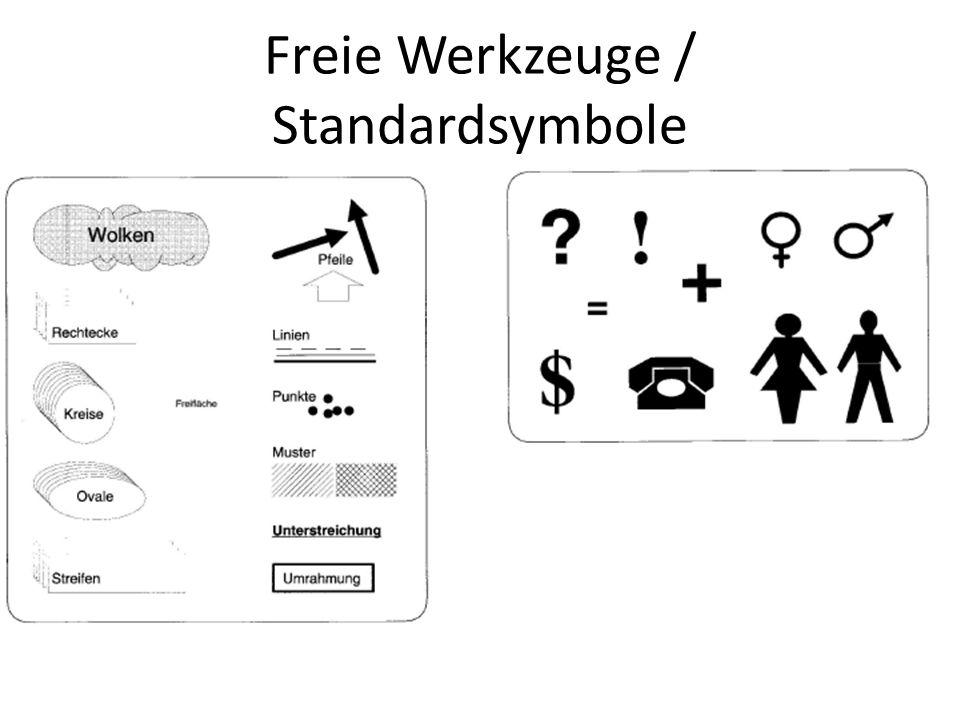 Freie Werkzeuge / Standardsymbole