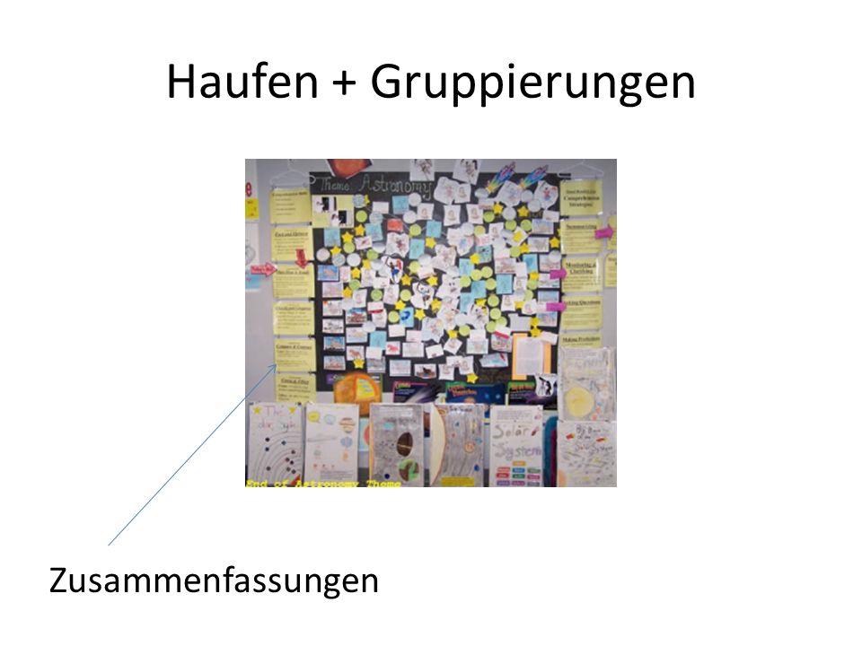Haufen + Gruppierungen
