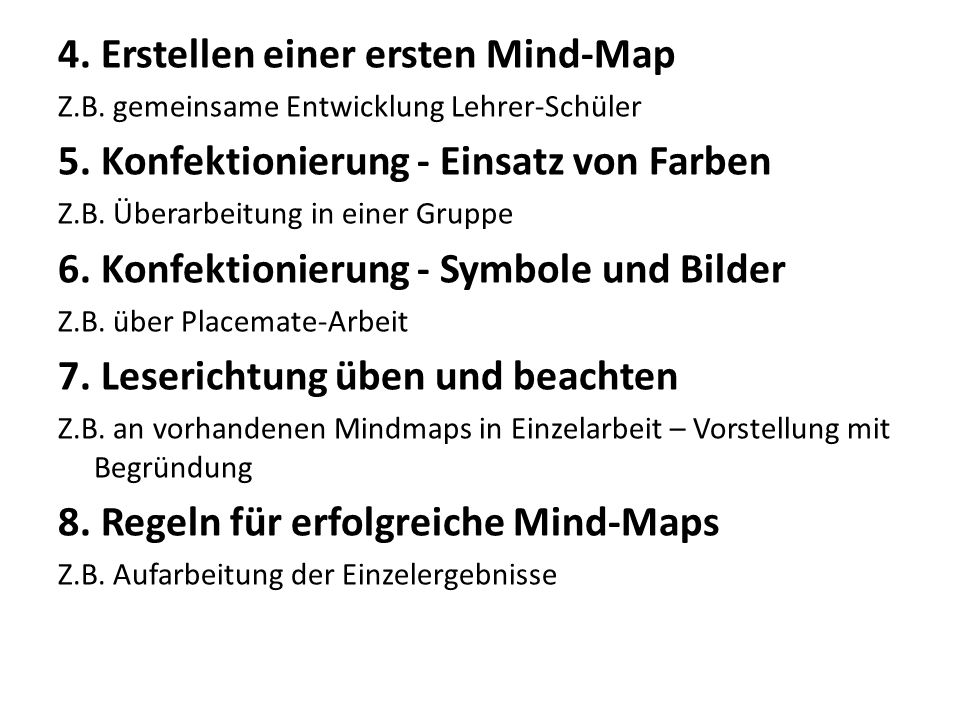 4. Erstellen einer ersten Mind-Map