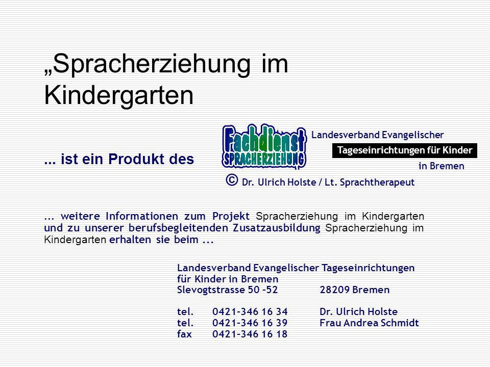 """""""Spracherziehung im Kindergarten"""