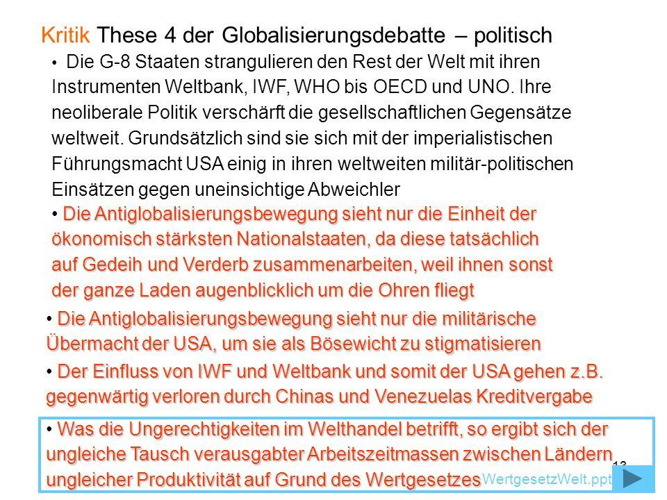 Kritik These 4 der Globalisierungsdebatte – politisch