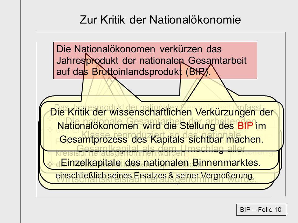 Zur Kritik der Nationalökonomie