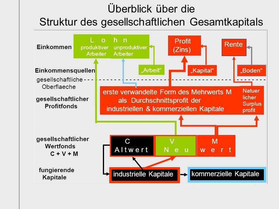 Überblick über die Struktur des gesellschaftlichen Gesamtkapitals