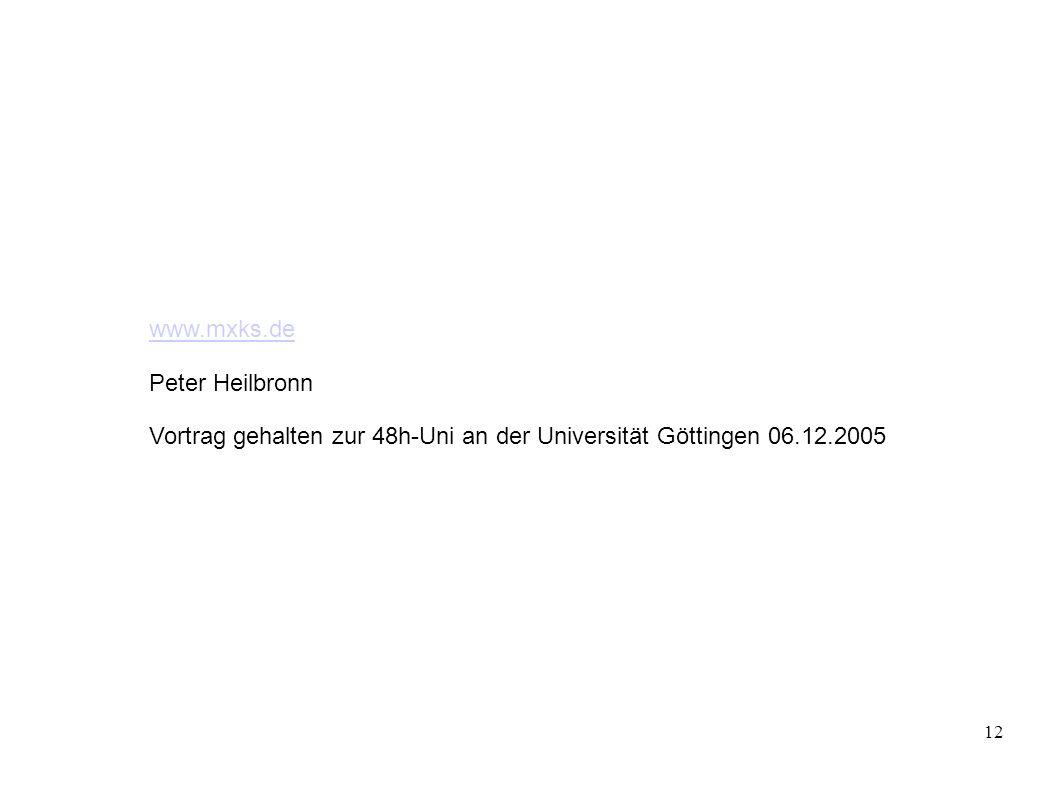  www.mxks.de Peter Heilbronn