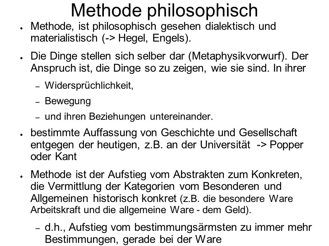 Methode philosophisch