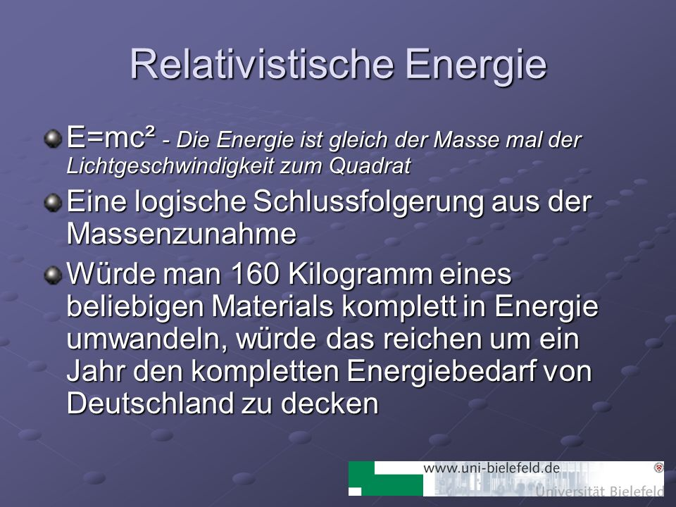 Relativistische Energie