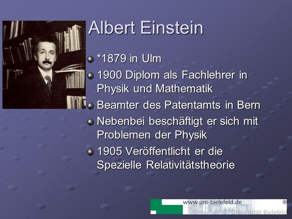 Albert Einstein *1879 in Ulm