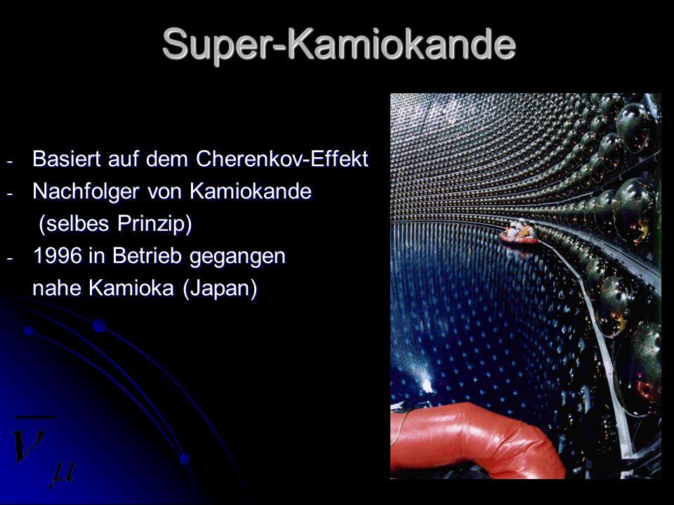 Super-Kamiokande Basiert auf dem Cherenkov-Effekt