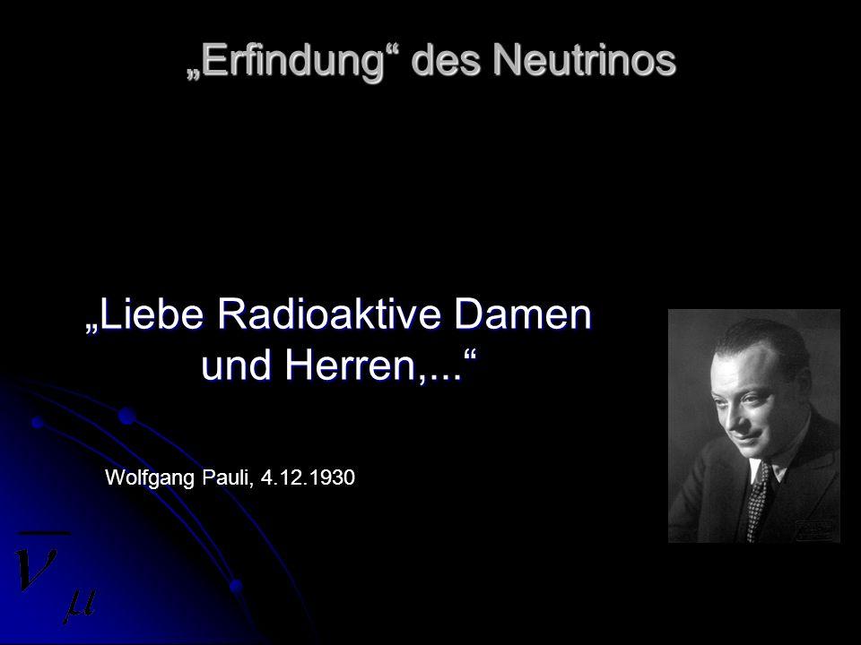 """""""Erfindung des Neutrinos"""