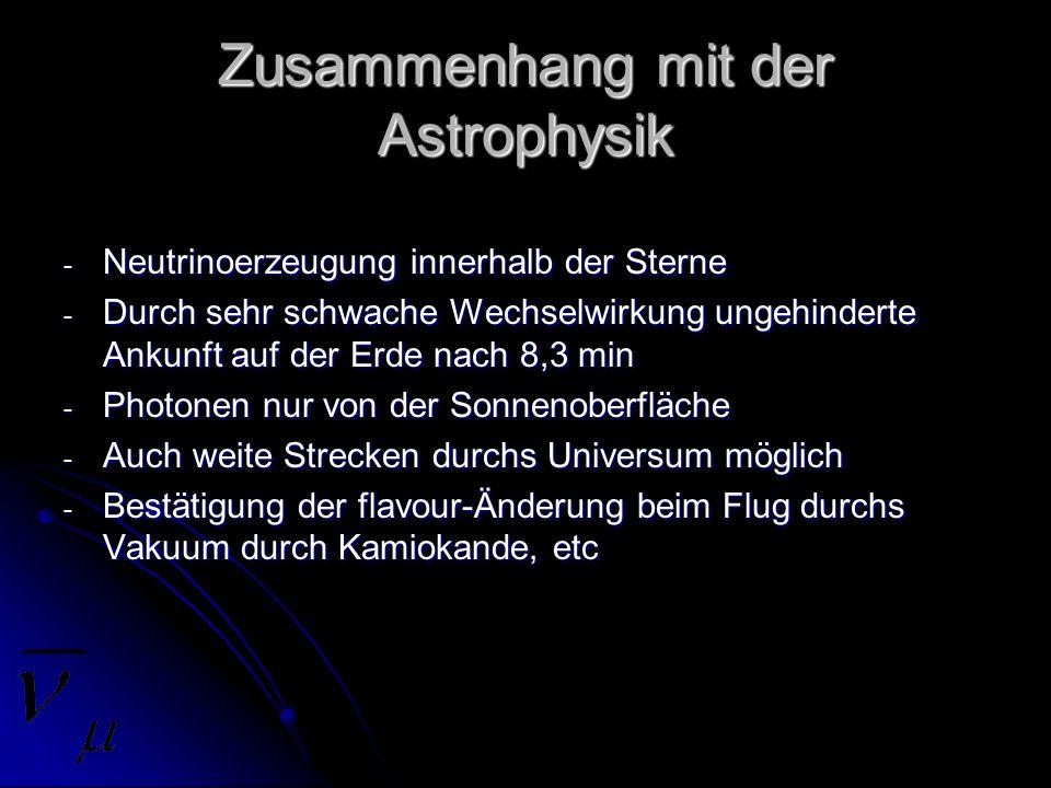 Zusammenhang mit der Astrophysik