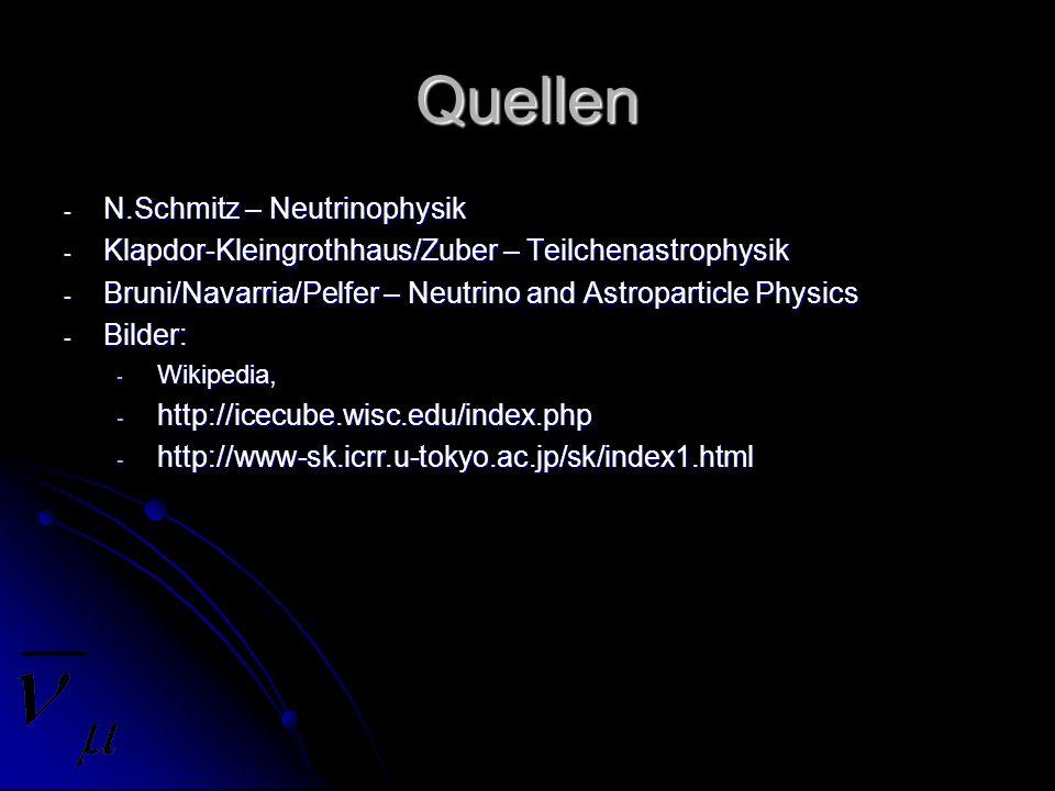 Quellen N.Schmitz – Neutrinophysik
