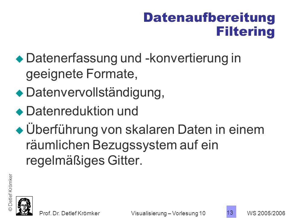 Datenaufbereitung Filtering