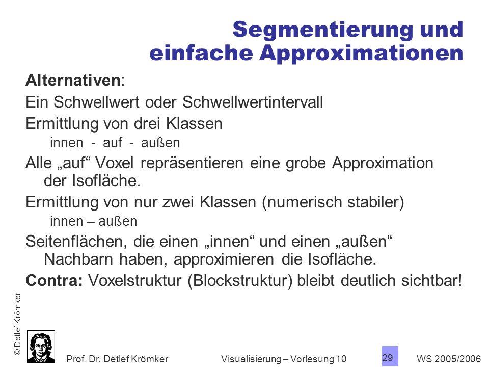 Segmentierung und einfache Approximationen