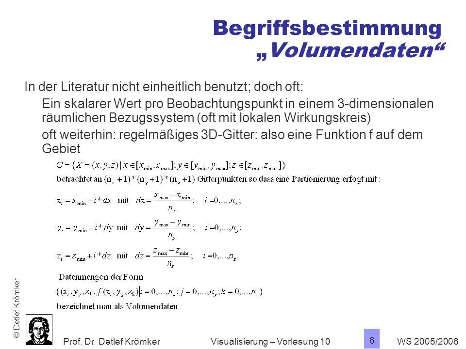 """Begriffsbestimmung """"Volumendaten"""