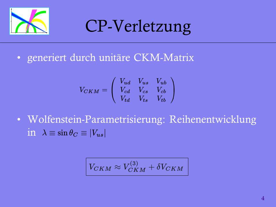 CP-Verletzung generiert durch unitäre CKM-Matrix