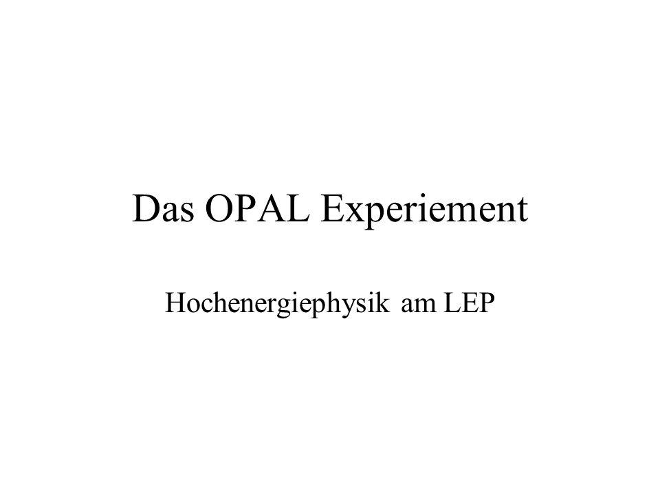 Hochenergiephysik am LEP