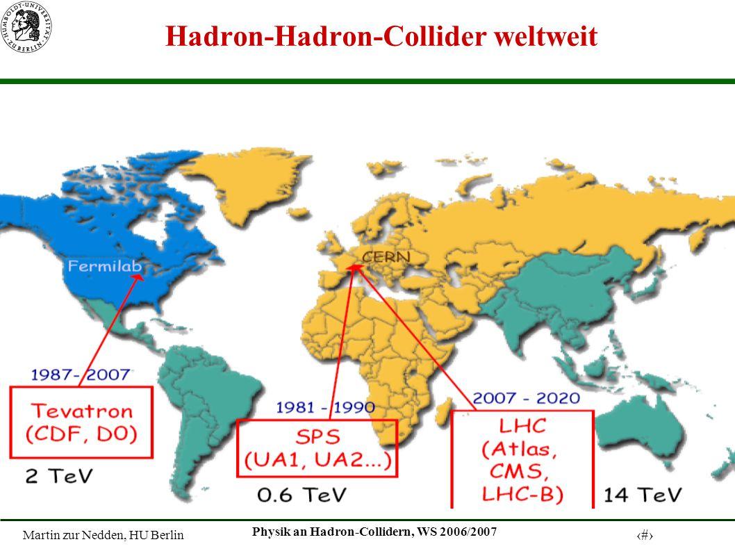 Hadron-Hadron-Collider weltweit