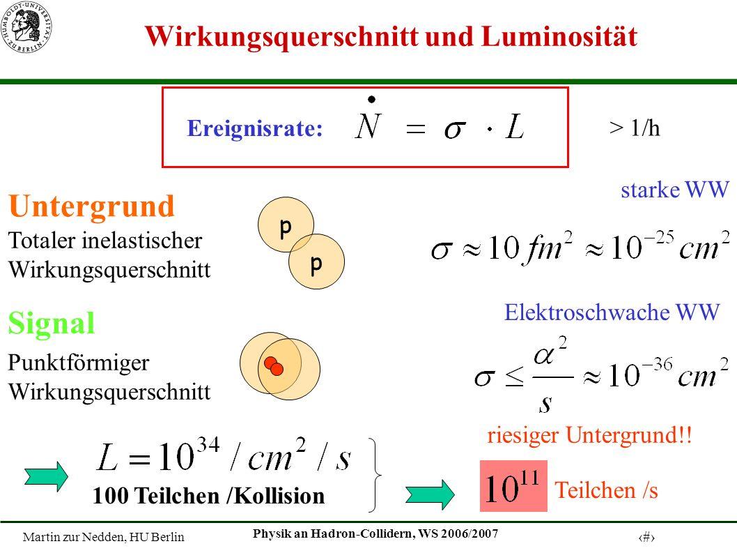Wirkungsquerschnitt und Luminosität