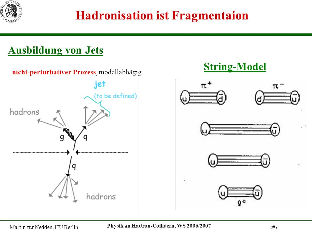 Hadronisation ist Fragmentaion