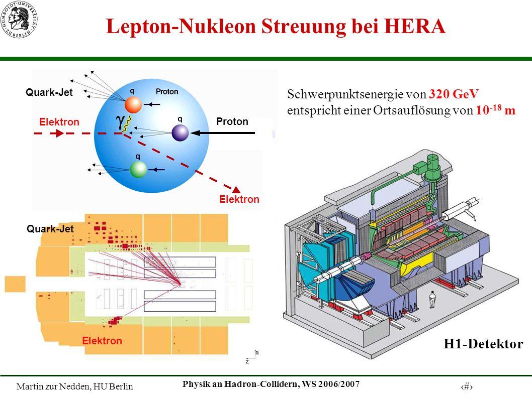 Lepton-Nukleon Streuung bei HERA