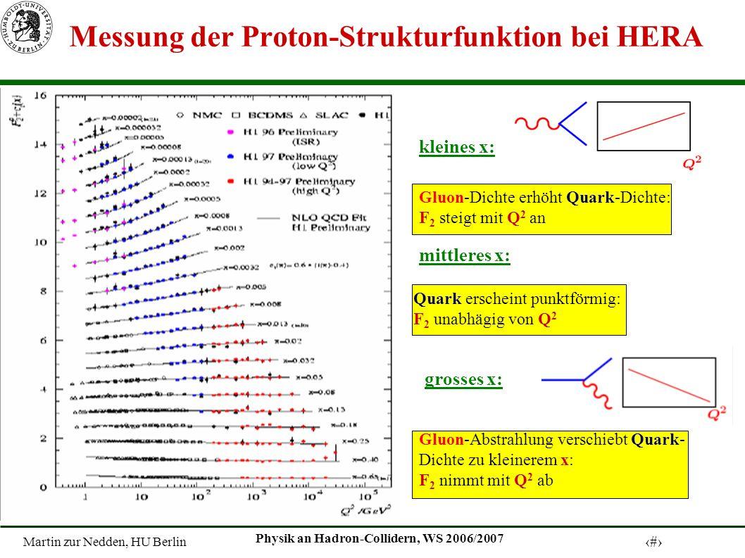 Messung der Proton-Strukturfunktion bei HERA