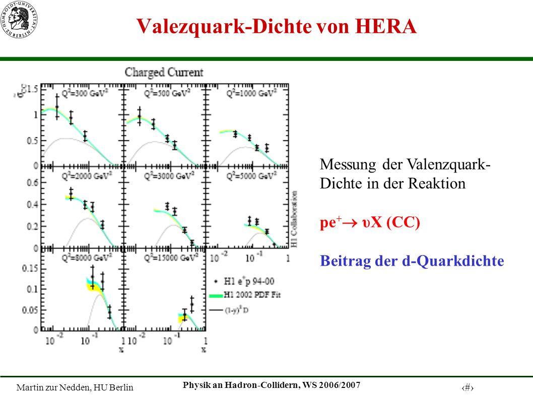 Valezquark-Dichte von HERA
