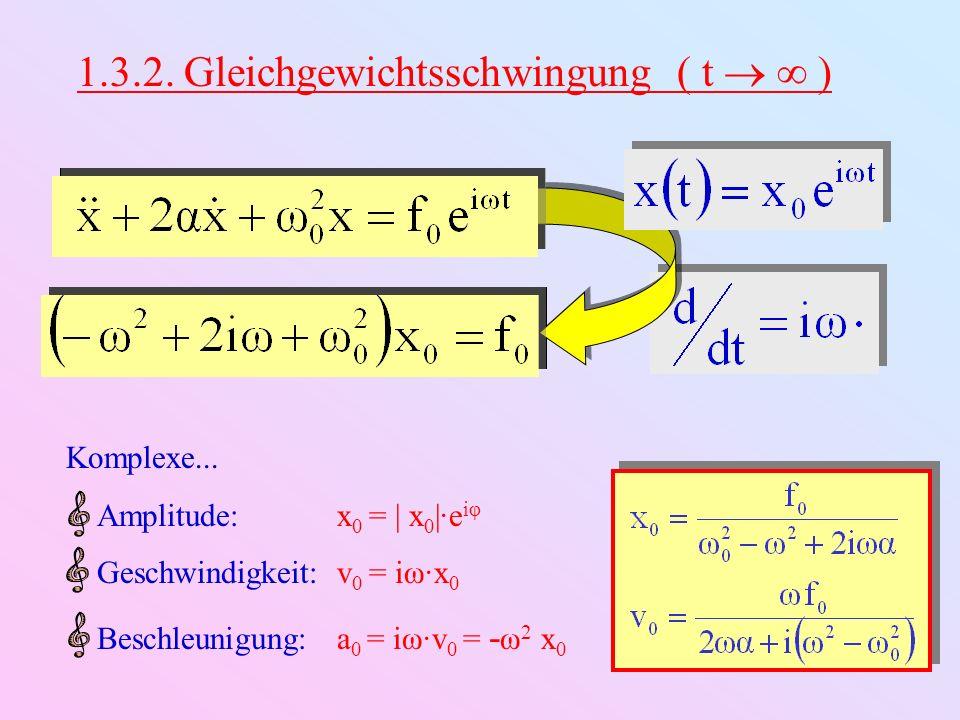 1.3.2. Gleichgewichtsschwingung ( t   )