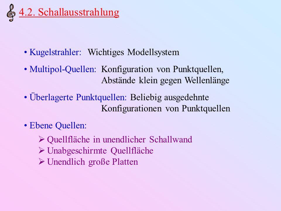 4.2. Schallausstrahlung Kugelstrahler: Wichtiges Modellsystem