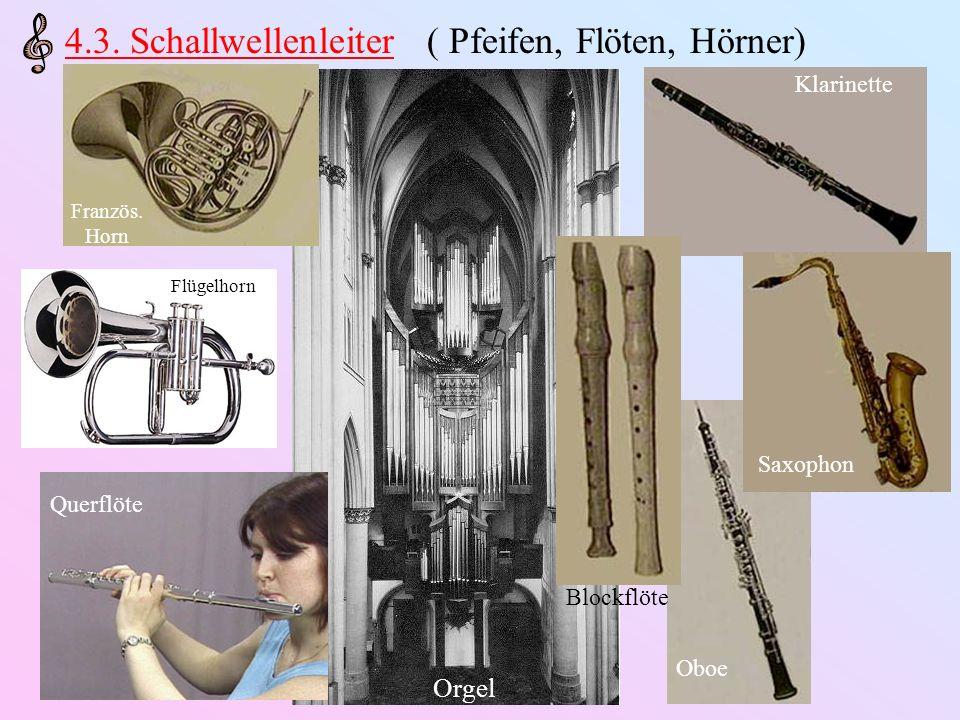 4.3. Schallwellenleiter ( Pfeifen, Flöten, Hörner)