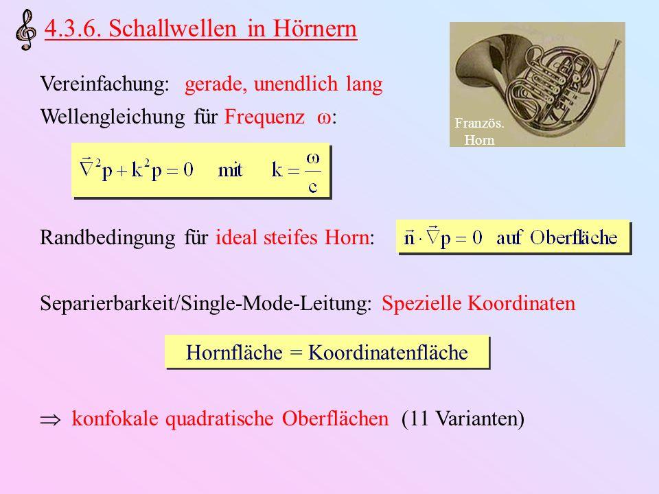 Hornfläche = Koordinatenfläche