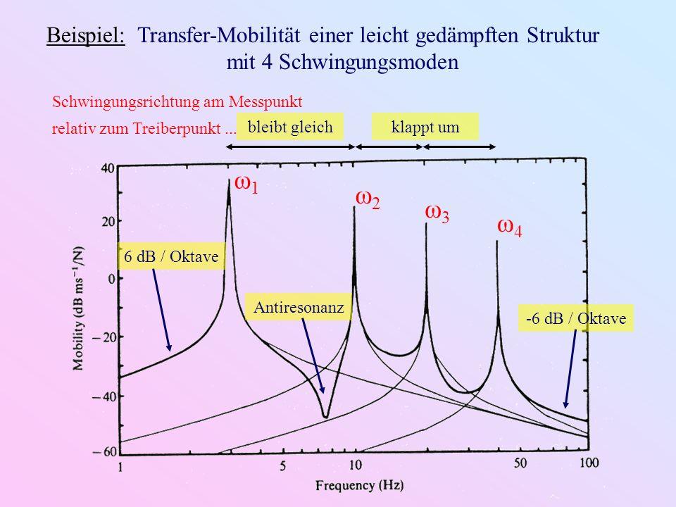Beispiel: Transfer-Mobilität einer leicht gedämpften Struktur