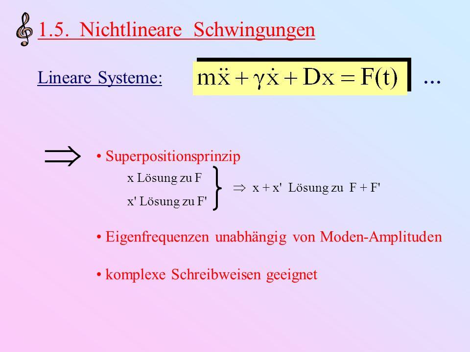  1.5. Nichtlineare Schwingungen Lineare Systeme: ...