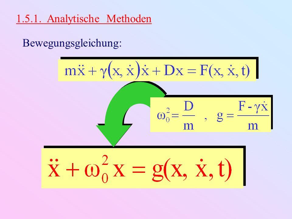 1.5.1. Analytische Methoden Bewegungsgleichung: